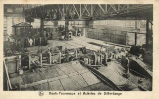 Differdange, Hauts-Fourneaux et Aciéries / steel company, factory interior
