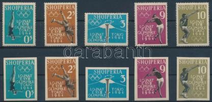 1962 Nyári olimpia, Tokió (I.) fogazott és vágott sor Mi 657-661 AB