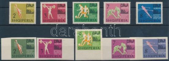 1963 Európa bajnokság fogazott és vágott sor Mi 763-772