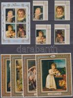 1979 Nemzetközi gyermekév: festmények ívsarki sor Mi 238-241 + 5 blokk Mi 15-19 (2 stecklap)