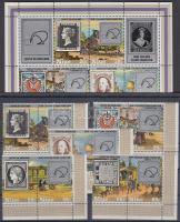 1980 ZEAPEX nemzetközi bélyegkiállítás 5 ívsarki pár (sor) Mi 336-345 + blokk Mi 36
