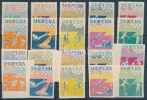1964 Nyári olimpia, Tokió (V) fogazott és vágott sor Mi 859-868, 870-879