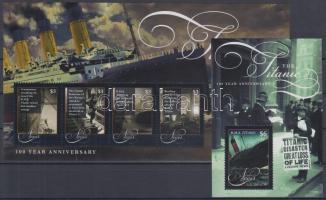 2012 100 éve süllyedt el a Titanic kisív Mi 2678-2681 + blokk Mi 311