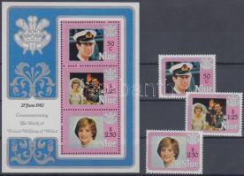 1982 William herceg születésnapja sor Mi 471-473 + blokk Mi 58