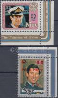 1984 Henry herceg születésnapja felülnyomott ívsarki sor Mi 594-595