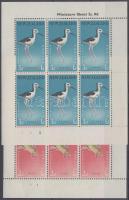 Health: Birds mini sheet set, Egészség: madarak kisívsor