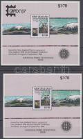 National Parks block + oveprinted version, Nemzeti parkok blokk + felülnyomott változata (2 stecklap)
