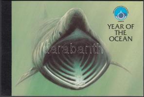1998 Nemzetközi óceán-év: tengeri élővilág bélyegfüzet MH 42 (Mi 758-762)
