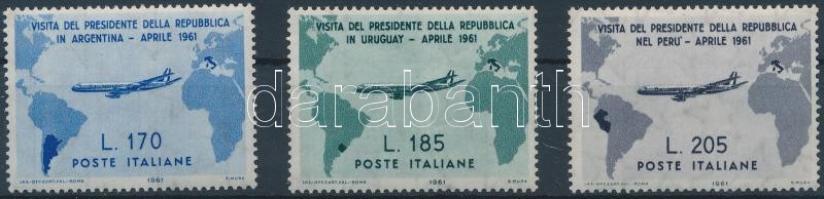 1961 Giovanni Granchi Dél-Amerikában sor Mi 1100-1102