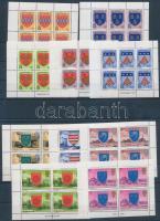 1976 + 1981 10 különféle bélyegfüzet lap