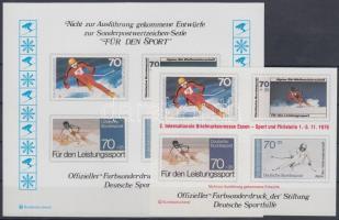 1978 Sport emlékív megvalósulatlan bélyegek képeivel