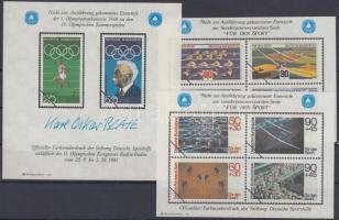 1978 3 db Sport emlékív megvalósulatlan bélyegek képeivel