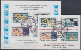 1978 2 db Sport emlékív megvalósulatlan bélyegek képeivel