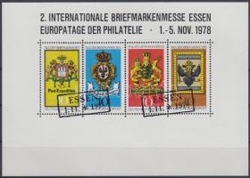 Essen Stamp Exhibition memorial sheet, Esseni bélyegkiállítás emlékív