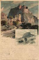 Hohentwiel, castle ruins, Velten No. 44. litho s: K. Mutter