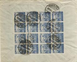 1923 (10. díjszabás) 16 x 50K Aratós levélen Belgiumba