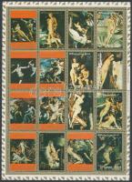 1973 Aktfestmény kisív Mi 2555A-2570A