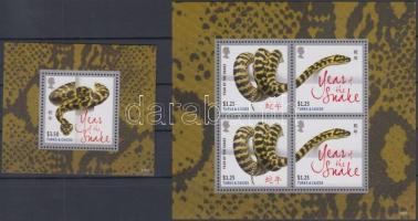Year of the Snake mini sheet + block, A kígyó éve kisív + blokk