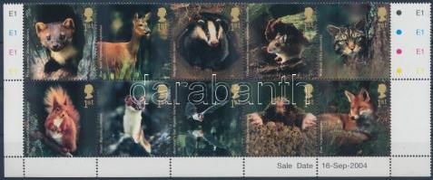 2004 Erdei állatok ívsarki tízestömb Mi 2236-2245