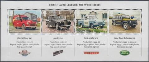 2013 Brit autó legendák blokk Mi blokk 84