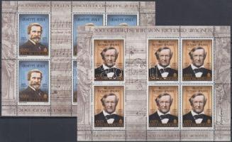 Verdi and Wagner minisheet pair, Verdi és Wagner kisívpár