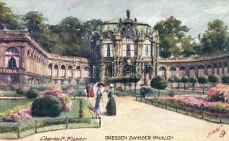 Dresden, Zwinger Pavillon, Raphael Tuck & Sons Oilette No. 728. s: Charles E. Flower