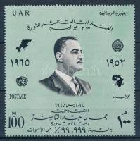 1965 Forradalom 13. évfordulója blokkból kiszedett bélyeg Mi 800 (sárgás csíkok a gumin / yellowish stripes on gum)