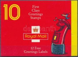 1991 Üdvözlőbélyegek: mosolygó arcok bélyegfüzet MH 96 (Mi 1327 I A-1336 I A)