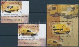 2013 Europa CEPT Postai járművek ívsarki sor Mi 656-657 + blokk Mi 26