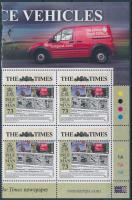 2013 Europa CEPT Postai járművek bélyeg ívsarki négyestömb Mi 1876