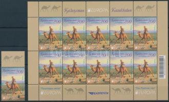 Europa CEPT Postal vehicles stamp + mini sheet, Europa CEPT Postai járművek bélyeg + kisív