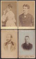 cca 1860-1900 Soproni fotótörténeti gyűjtemény 4 db vizitkártya soproni fényképészek műterméből / 4 photos from Oedenburger photographers