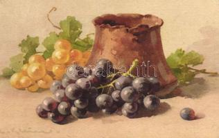 Still life, grapes s: C. Klein, Csendélet s: C. Klein