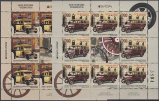 Europa CEPT Postal Vehicles mini sheet pair, Europa CEPT Postai járművek kisívpár