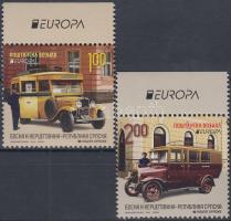 Europa CEPT Postai járművek sor + bélyegfüzet Europa CEPT Postal vehicles set + stampbooklet