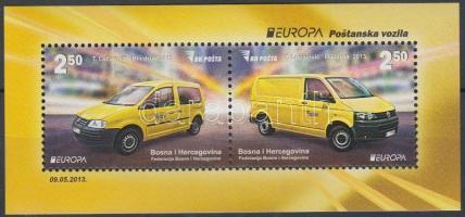Europa CEPT Postal vehicles block, Europa CEPT Postai járművek blokk