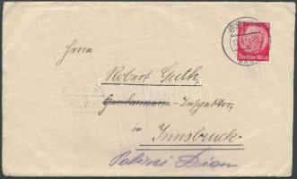 1939 Levél a Szudéta-vidékről Innsbruckba