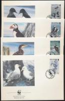 1989 WWF tengeri madarak sor Mi 408-411 4 FDC