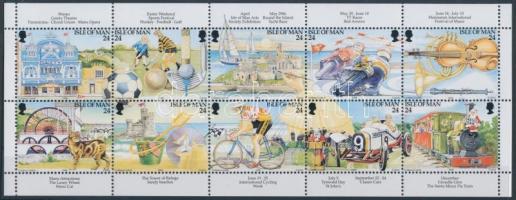 1994 Turizmus bélyegfüzetlap Mi H-Blatt 35 (577-586)