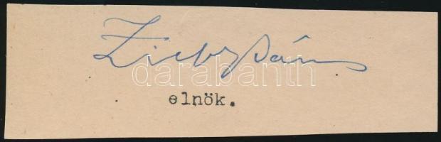Zichy János, gróf (1868-1944) agrárius nagybirtokos, miniszter, legitimista politikus. Vallás- és közoktatásügyi miniszter a második Khuen-Héderváry-kormányban, a Lukács-kormányban, majd a harmadik Wekerle-kormányban. Aláírás kivágáson.