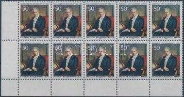 1969 Alexander von Humboldt 200. születésnapja ívsarki 10-es tömb Mi 346