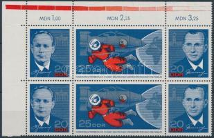 1965 Szovjet űrhajósok ívsarki 6-os összefüggés Mi 1138-1140