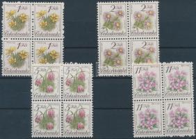 Flower set blocks of 4, Virág sor négyestömbökben