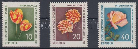 1961 Nemzetközi Kertészeti Kiállítás sor Mi 854-856