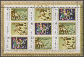 2006 Tél témájú festmények a moldovai múzeumokból kisív Mi 570-572