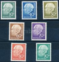 Definitive: President Theodor Heuss set, Forgalmi: Theodor Heuss elnök sor