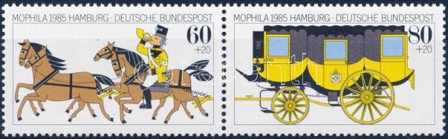 1985 MOPHILA 85 nemzetközi bélyegkiállítás pár Mi 1255-1256