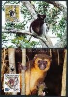 1988 WWF lemurok sor Mi 1110A - 1113A 4 CM