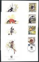 1988 WWF lemurok sor Mi 1110A - 1113A 4 FDC