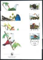 1990 WWF madarak sor Mi 174-177 4 FDC